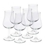 BOITE 6 VERRES A PIED DE FORME TULIPE 13 CL  